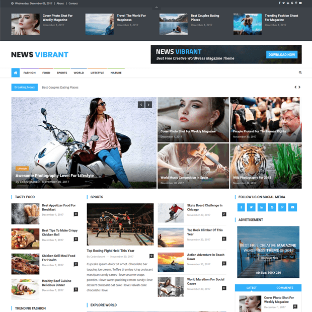 Best Magazine WordPress Theme – News Vibrant