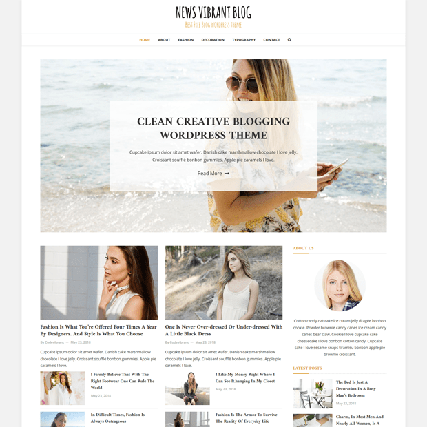 Clean Blog Magazine WordPress Theme – News Vibrant Blog