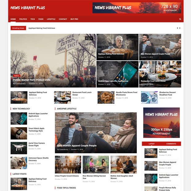 Creative Free Magazine WordPress Theme – News Vibrant Plus