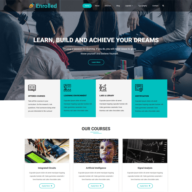 Creative Education WordPress Theme – Enrolled