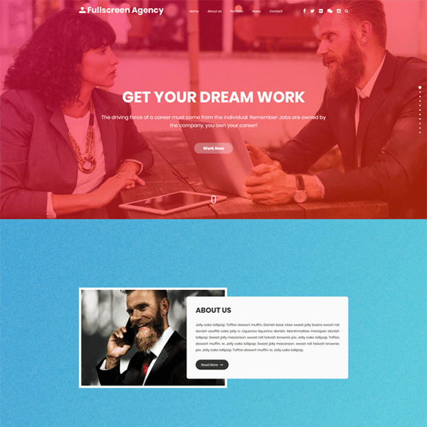 Creative Agency WordPress Theme – Fullscreen Agency