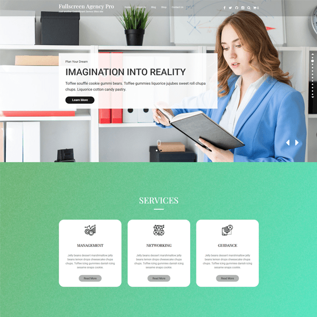 Creative Agency WordPress Theme-Fullscreen Agency Pro