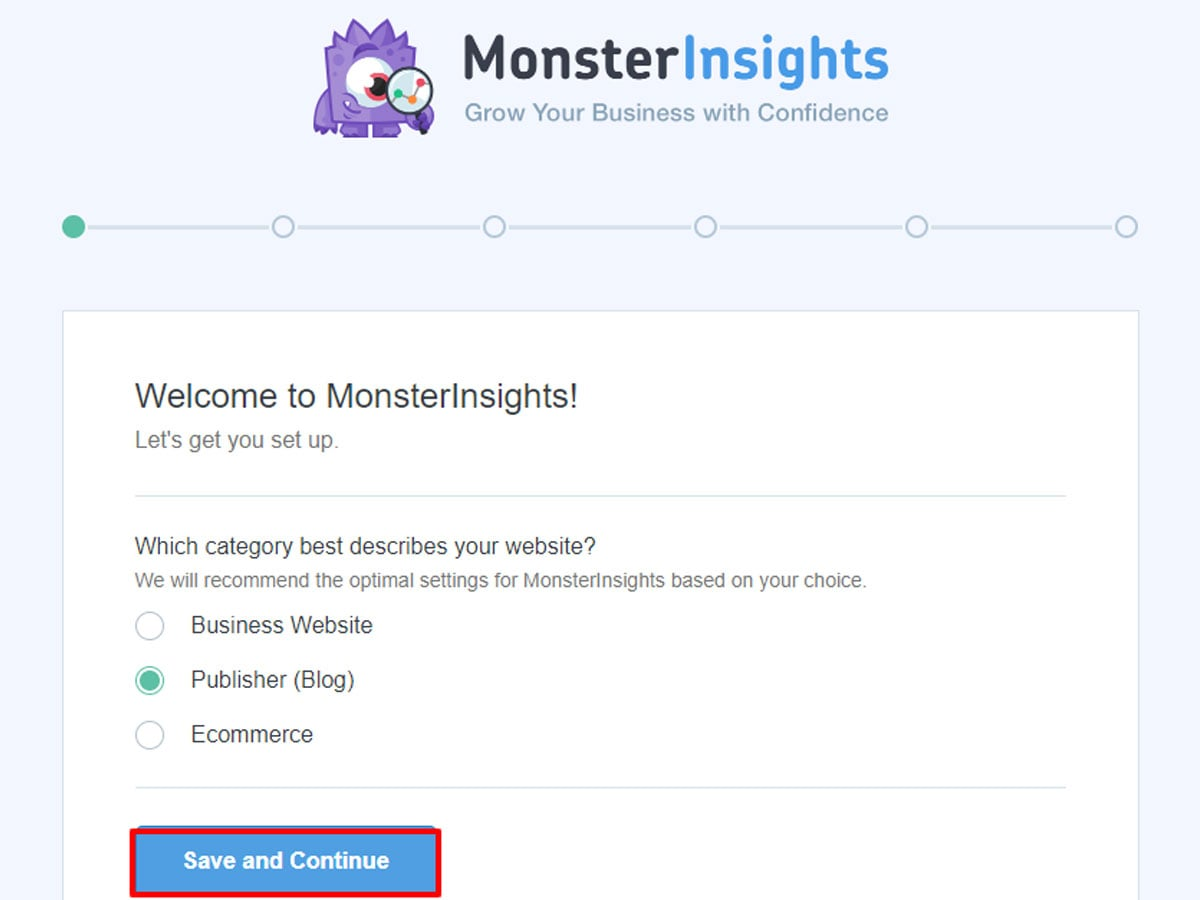 Save-and-continue-Monster-Insights