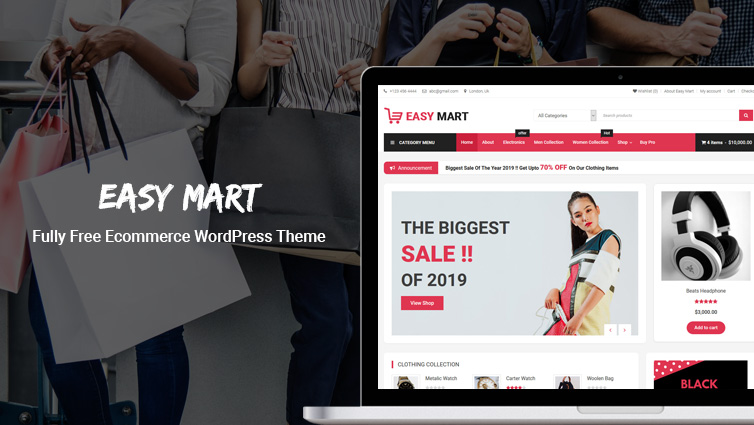 Free Ecommerce WordPress Theme - Easy Mart - CodeVibrant