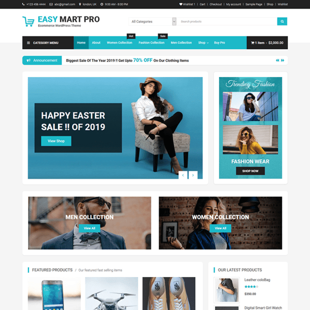 Premium Ecommerce WordPress Theme – Easy Mart Pro