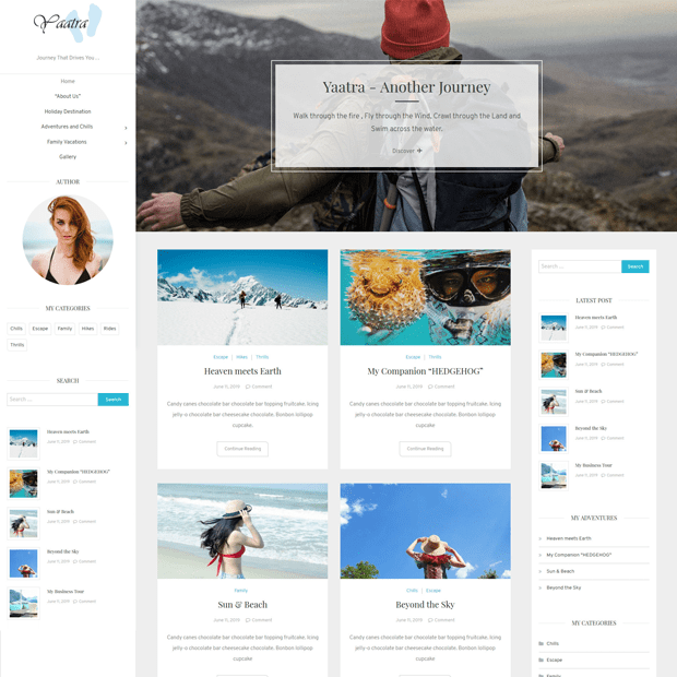 Creative Blogging WordPress Theme – Yaatra