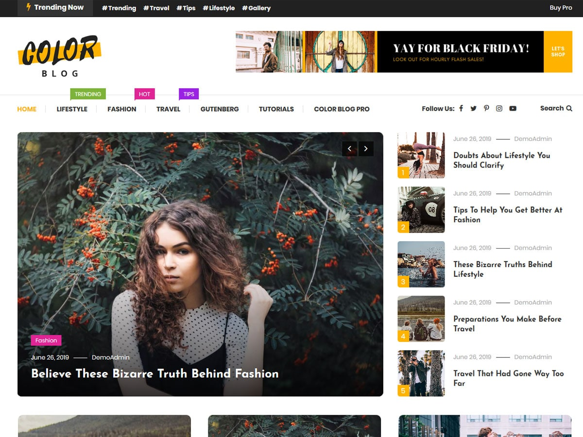 color-blog-WordPress-theme