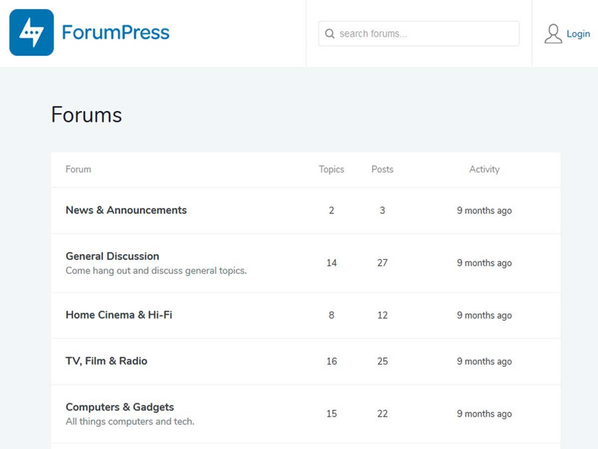 ForumPress Buddypress forum WordPress theme
