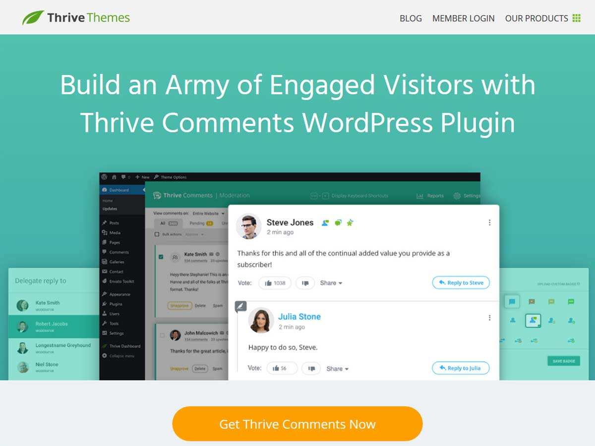 thrive-comments plugin for WordPress