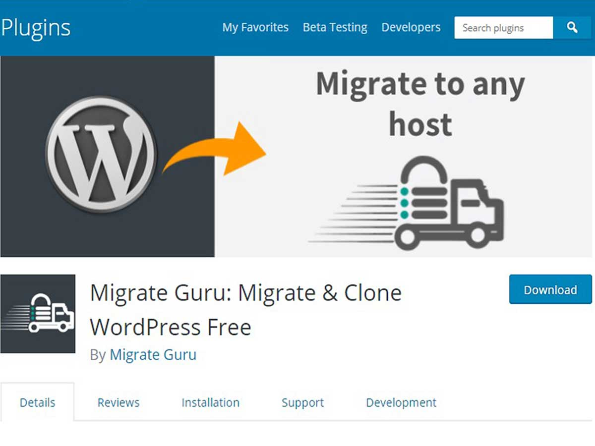 Migrate-Guru WordPress migration plugin