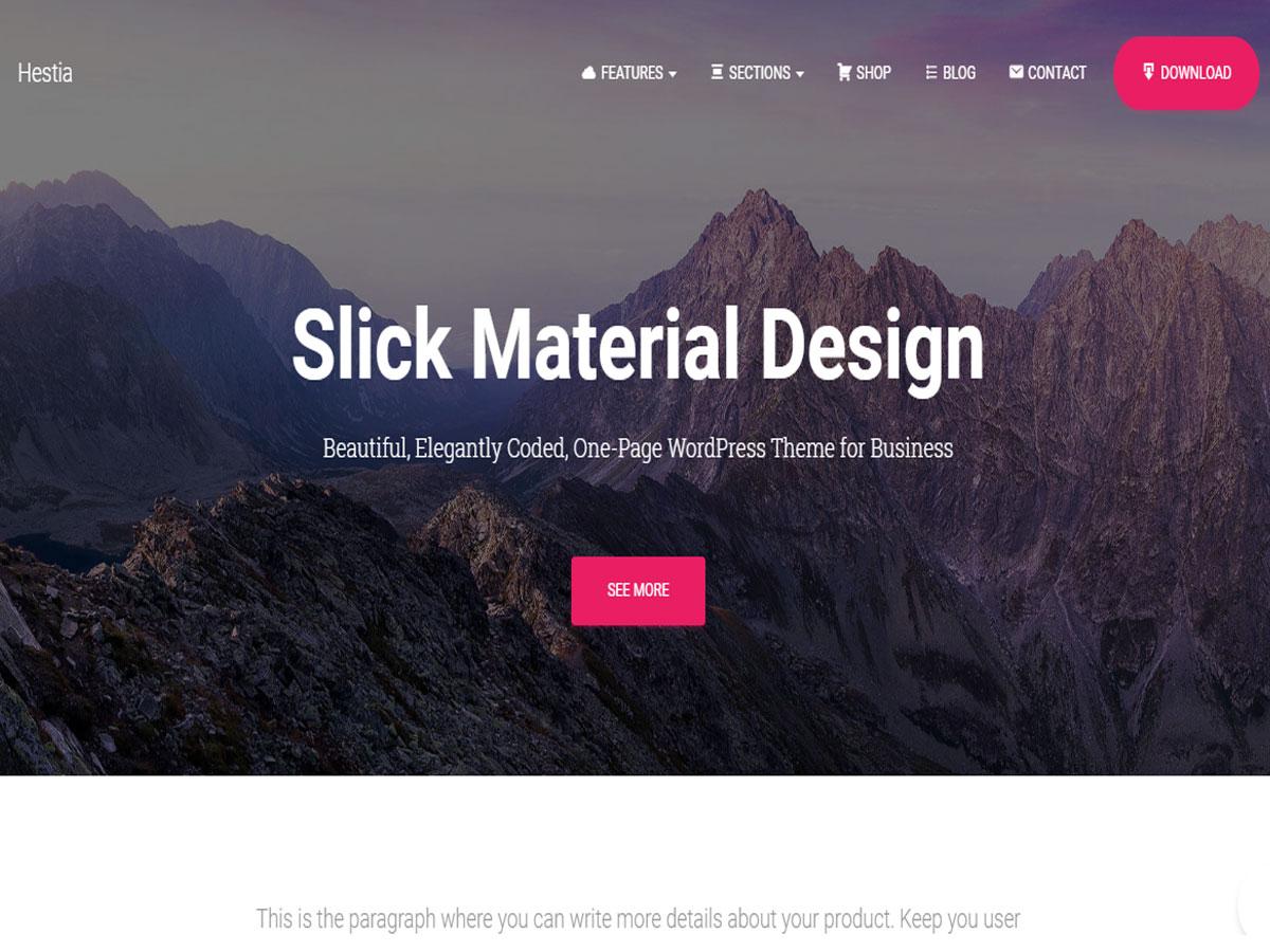 Hestia-Theme WordPress theme