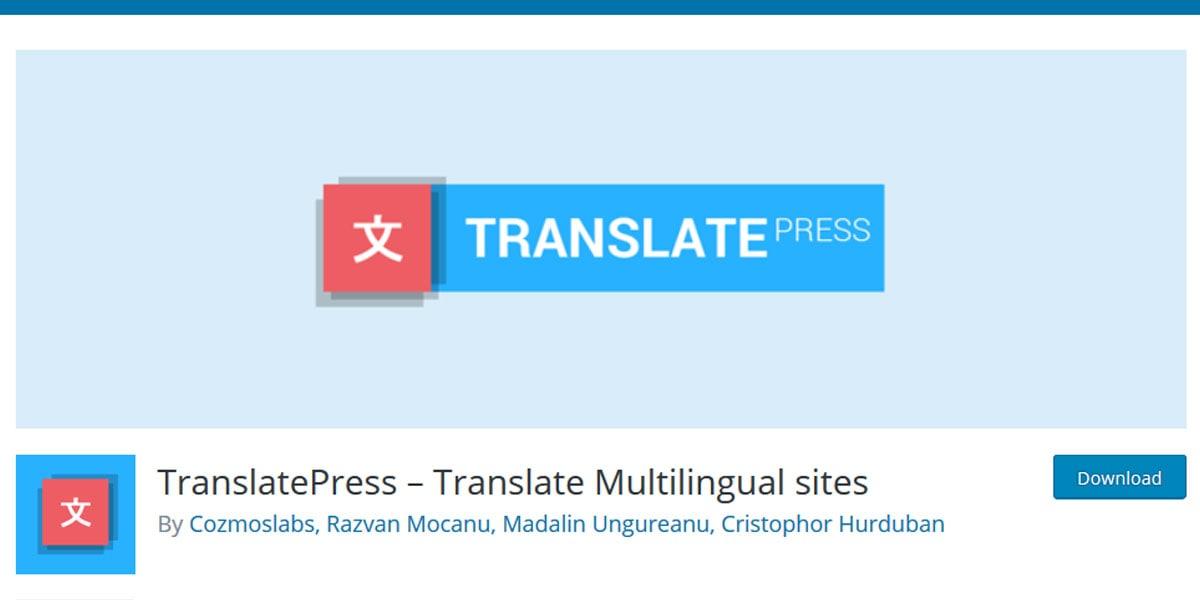 TranslatePress WordPress translation plugin