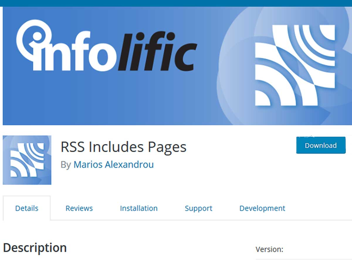 RSS-includes-pages