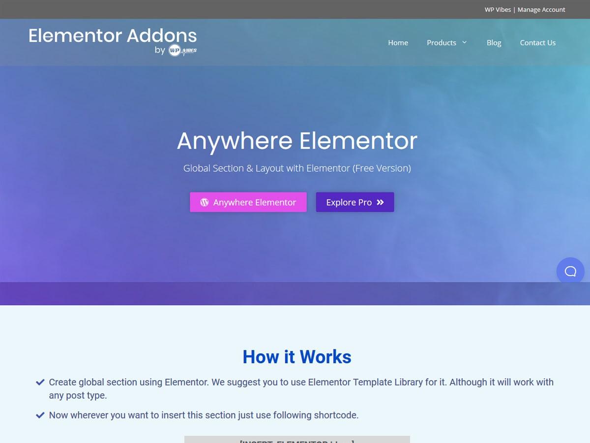 Anywhere-elementor